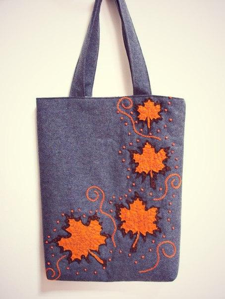 Аппликации из ткани на сумку своими руками