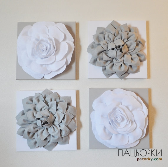 White flower wall decor